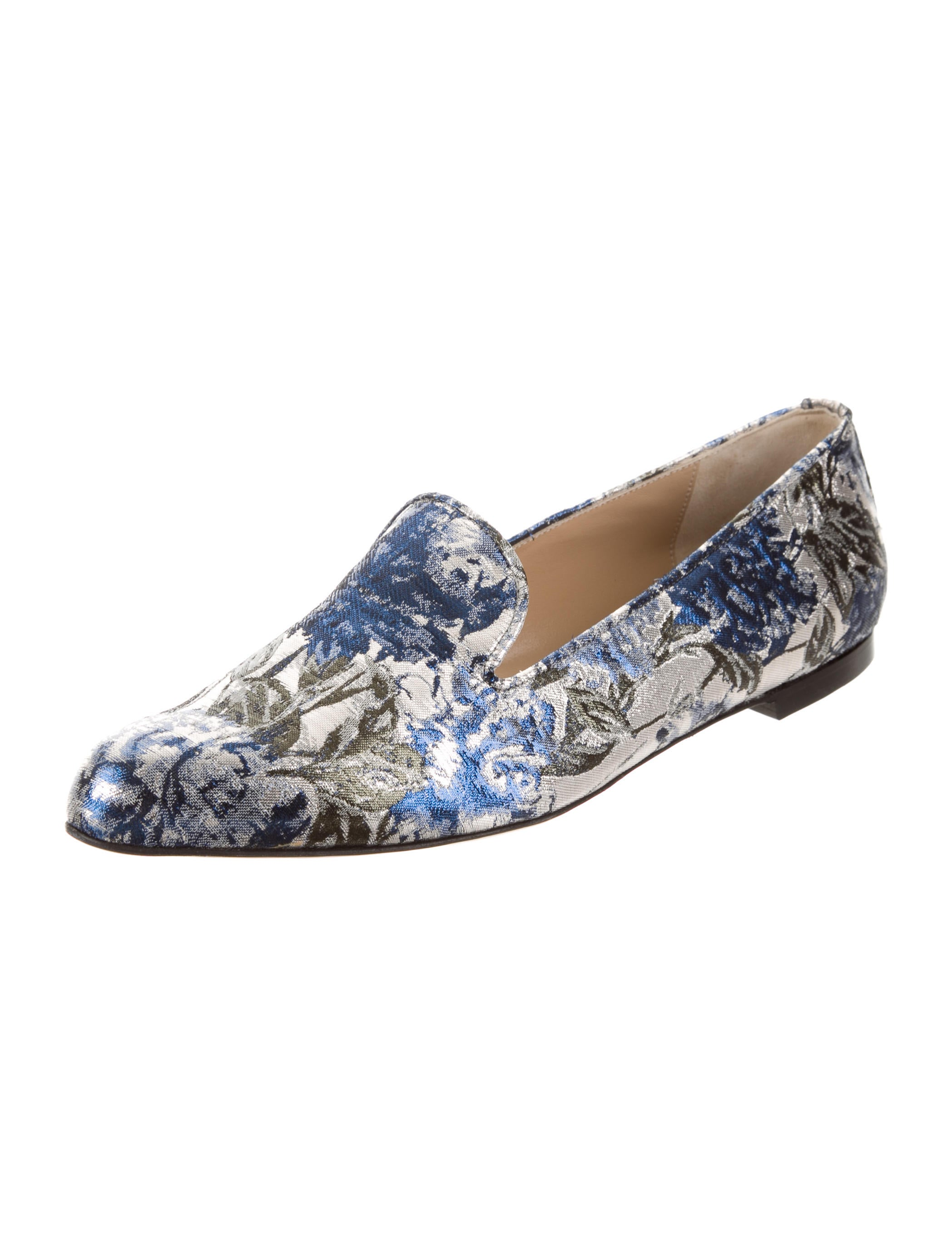Paul Andrew x Carolina Herrera Metallic Jacquard Flats w/ Tags websites yIdqaFq3