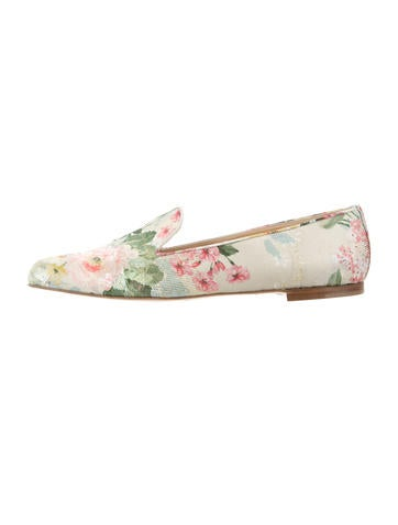 Paul Andrew x Carolina Herrera Metallic Jacquard Flats w/ Tags store cheap price store buy cheap store official site outlet under $60 Q31V5KM