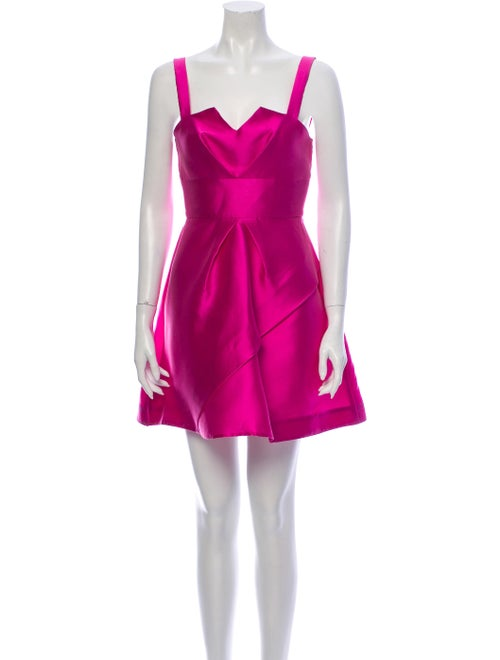 Paper London Square Neckline Mini Dress Pink