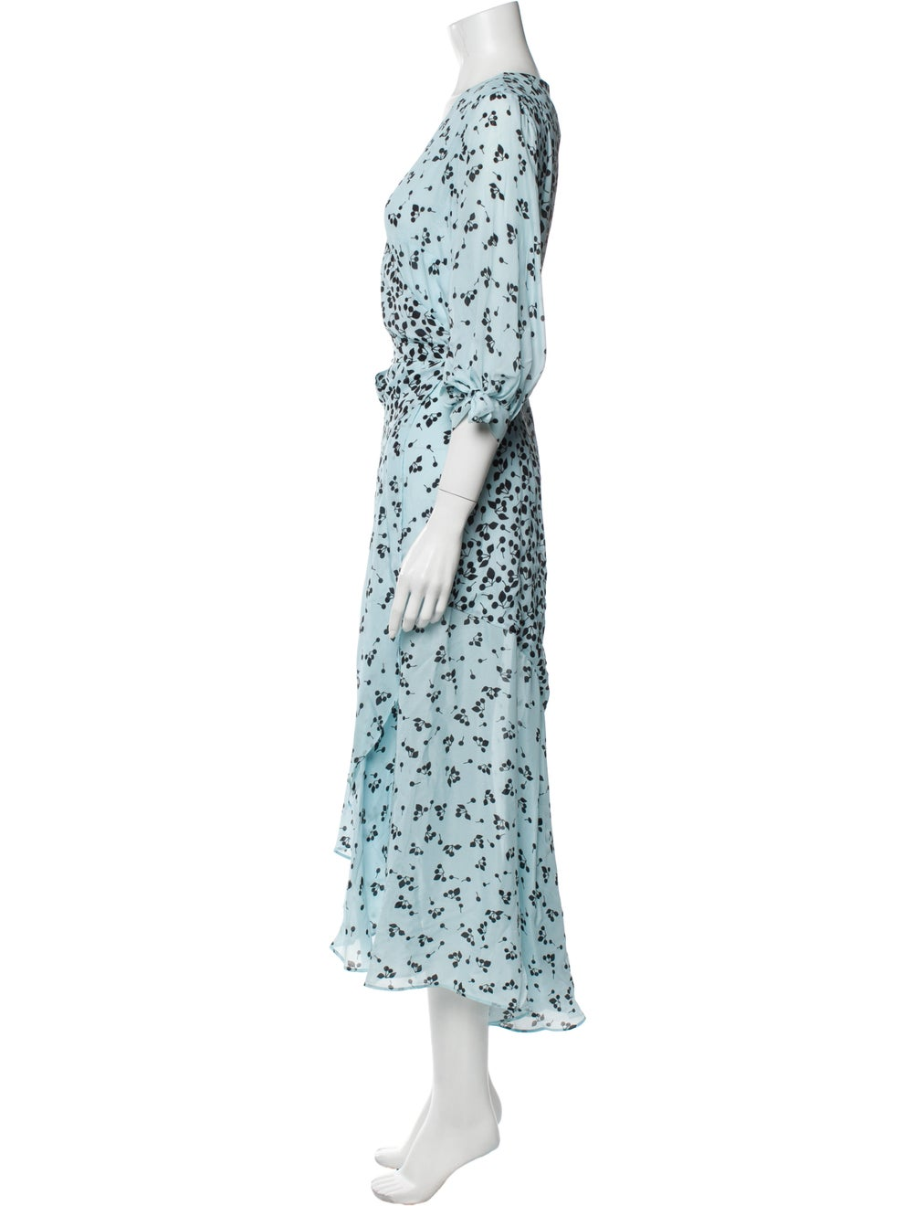 Paper London Printed Long Dress Blue - image 2