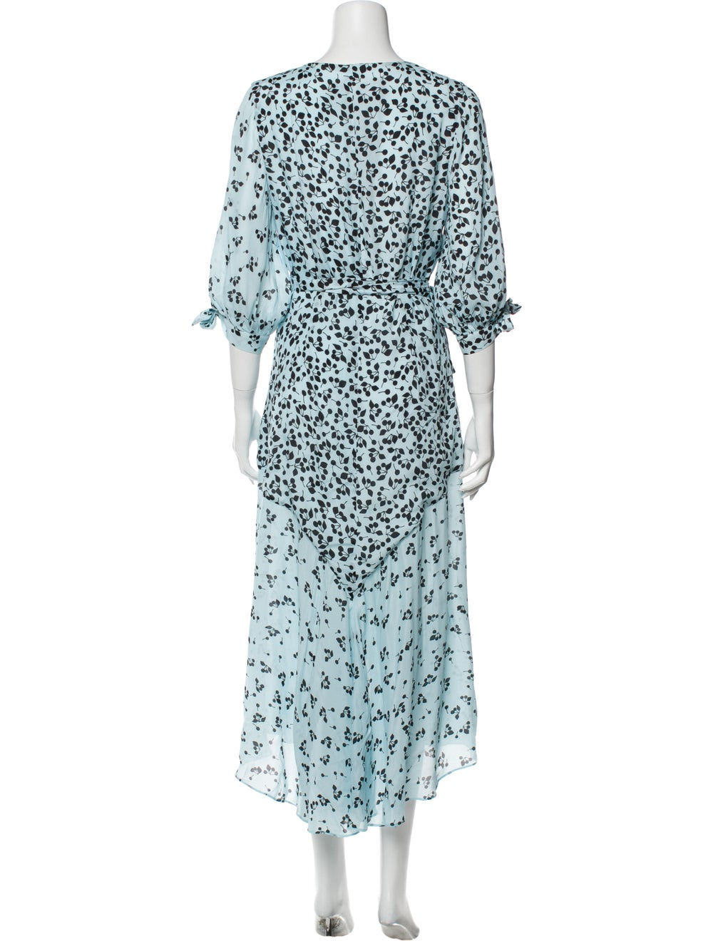 Paper London Printed Long Dress Blue - image 3