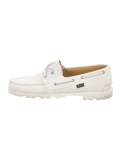 Paraboot Malo Suede Loafers white