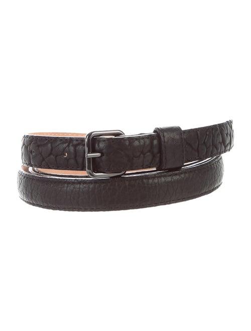 Parabellum Leather Wrap Belt black