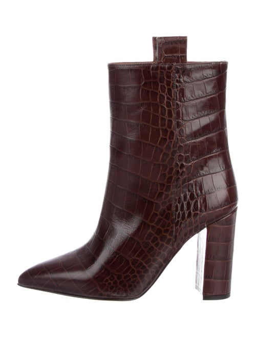 Paris Texas Embossed Ankle Boots Brown