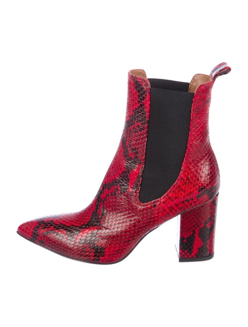 Paris Texas Embossed Leather Ankle boots Red