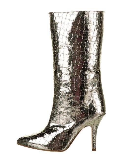 Paris Texas Metallic Mid-Calf Boots Gold