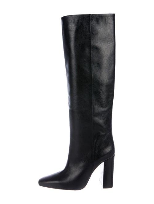 Paris Texas Leather Knee-High Boots Black