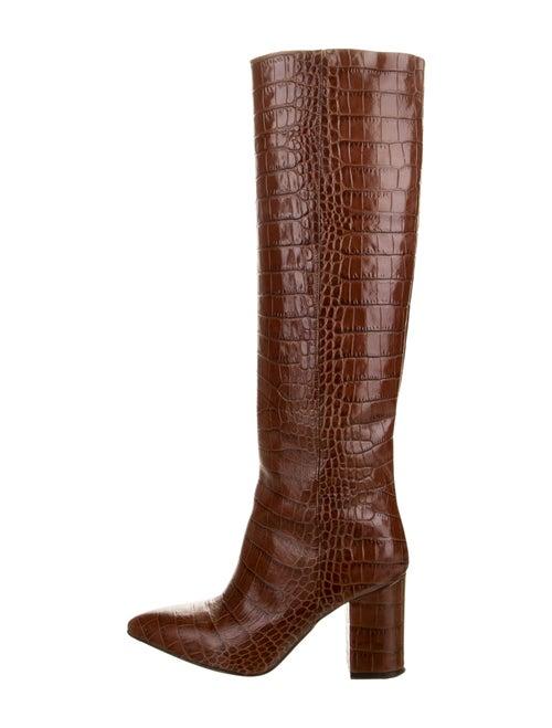 Paris Texas Embossed Knee-High Boots Brown