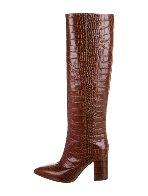 Paris Texas Embossed Leather Boots Brown