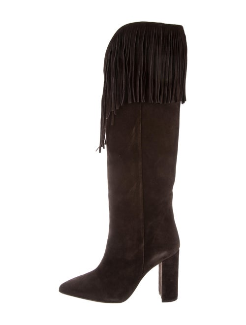 Paris Texas Suede Knee-High Boots Brown