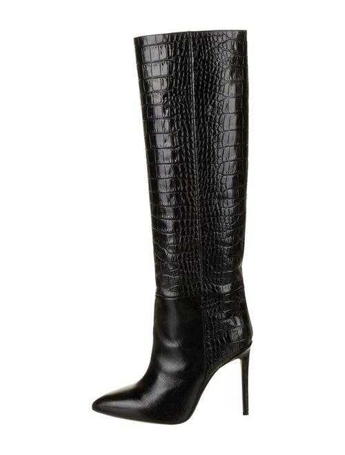 Paris Texas Embossed Knee-High Boots Black