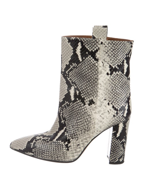 Paris Texas Embossed Pointed-Toe Ankle Boots Beige