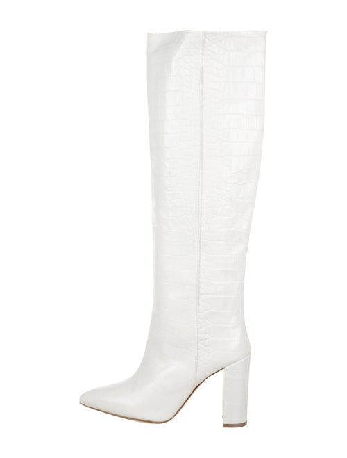 Paris Texas Embossed Knee-High Boots White