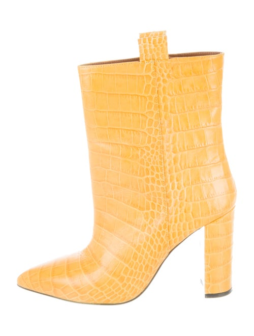 Paris Texas Embossed Ankle Boots Yellow