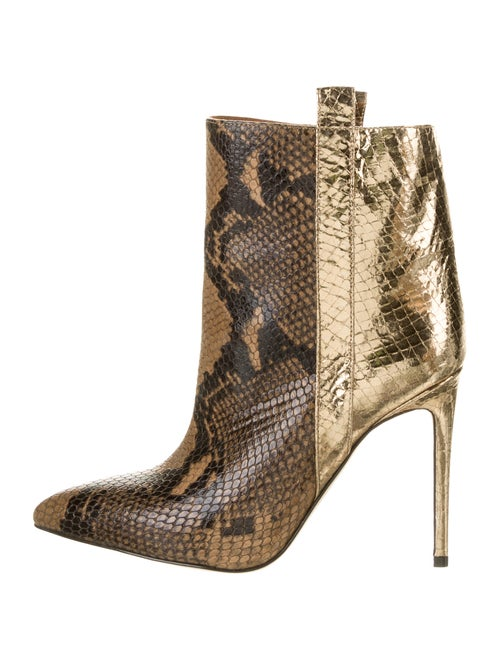 Paris Texas Embossed Ankle Boots w/ Tags Brown