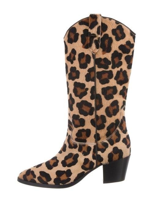 Paris Texas Ponyhair Animal Print Western Boots Br