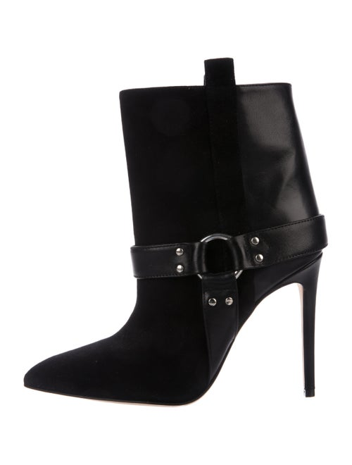 Paris Texas Suede & Leather Ankle Boots Black