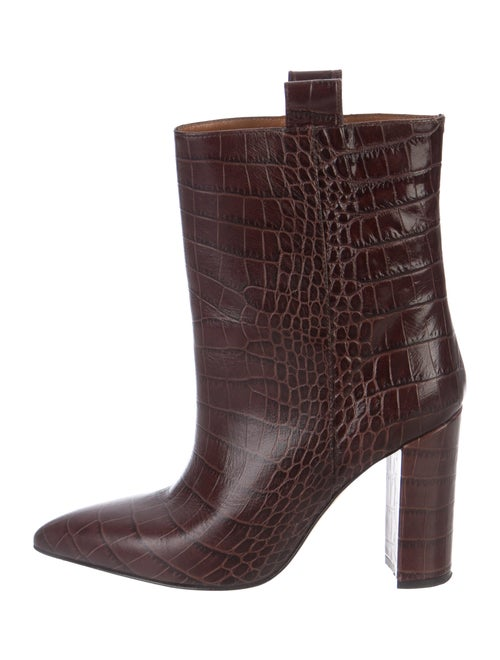 Paris Texas Leather Ankle Boots Brown