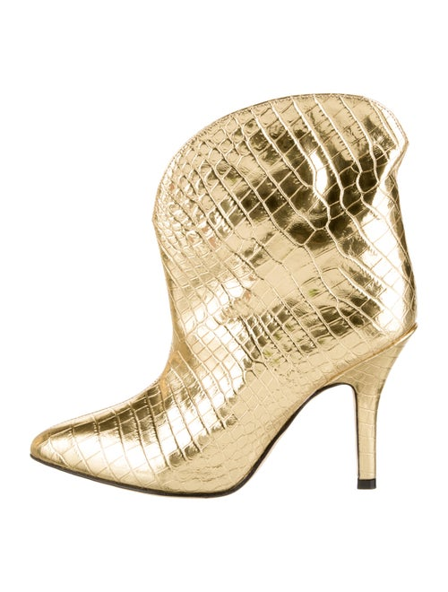 Paris Texas Embossed Leather Boots Gold