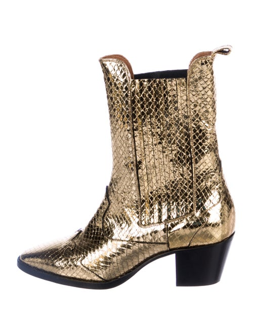 Paris Texas Leather Semi-Pointed Toes Western Boot