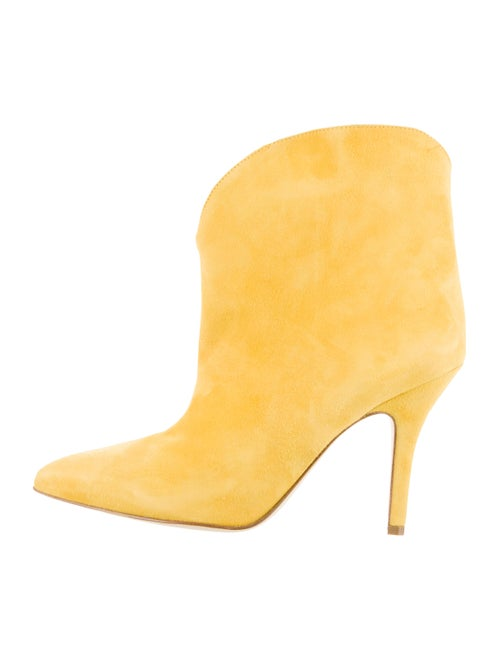 Paris Texas Suede Pointed-Toe Boots Yellow
