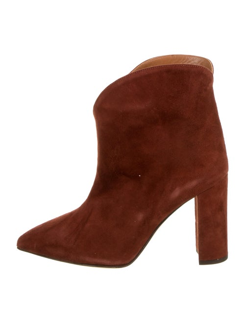 Paris Texas Suede Pointed-Toe Boots Brown
