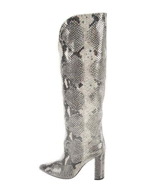 Paris Texas Embossed Leather Boots Grey