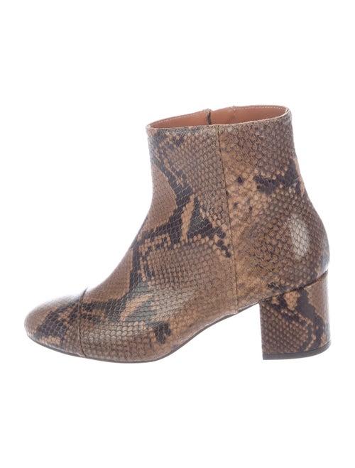 Paris Texas Leather Animal Print Boots Brown