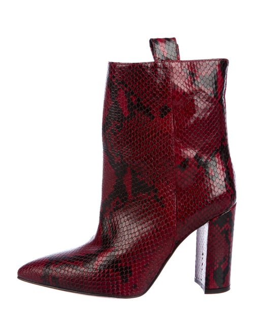Paris Texas Snakeskin Western Boots Red