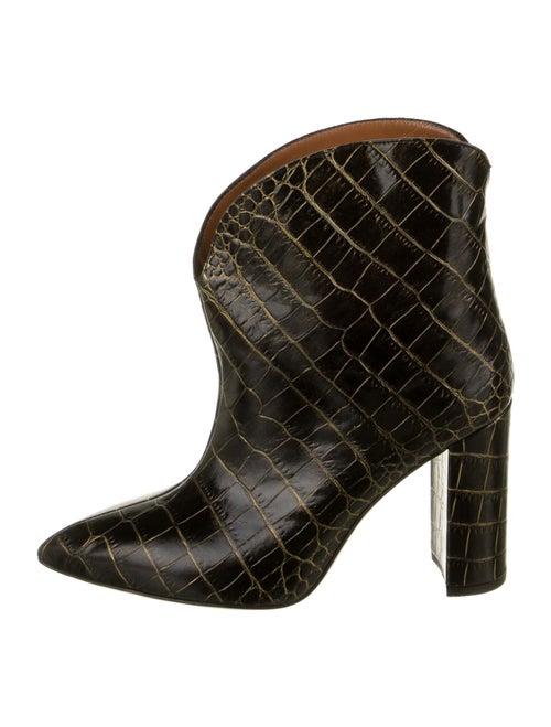 Paris Texas Embossed Leather Boots Black