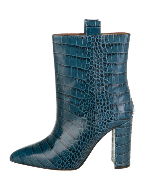 Paris Texas Embossed Leather Boots Blue