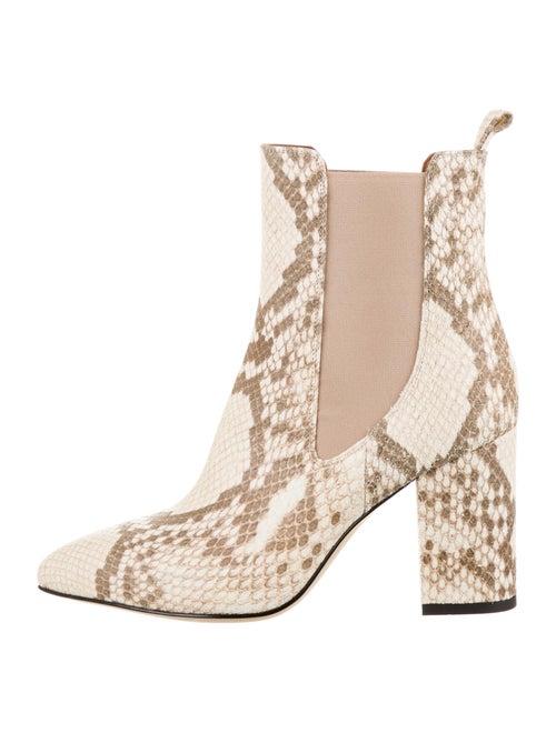 Paris Texas Leather Animal Print Chelsea Boots w/