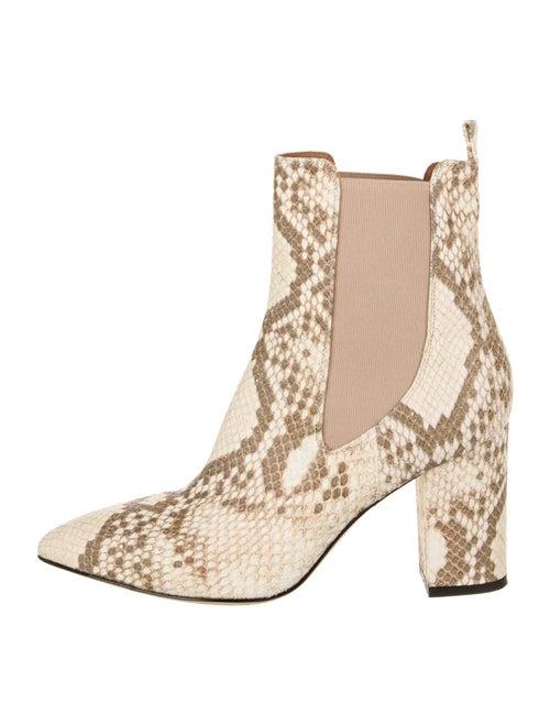 Paris Texas Leather Animal Print Chelsea Boots
