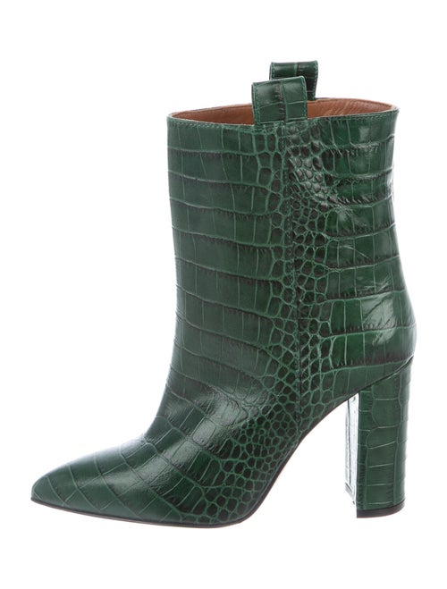 Paris Texas Leather Boots Green