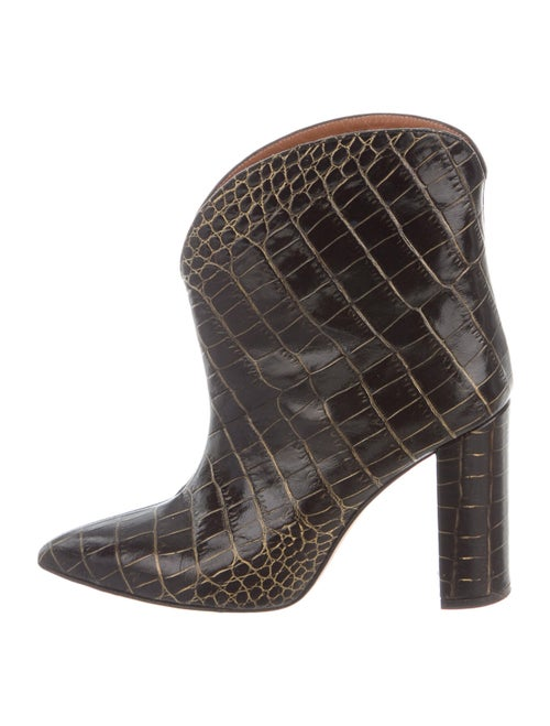 Paris Texas Embossed Leather Western Boots Black