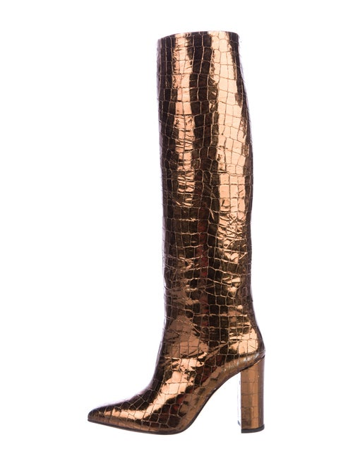 Paris Texas Leather Boots Metallic
