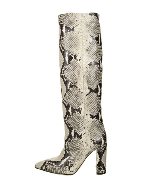 Paris Texas Leather Animal Print Boots