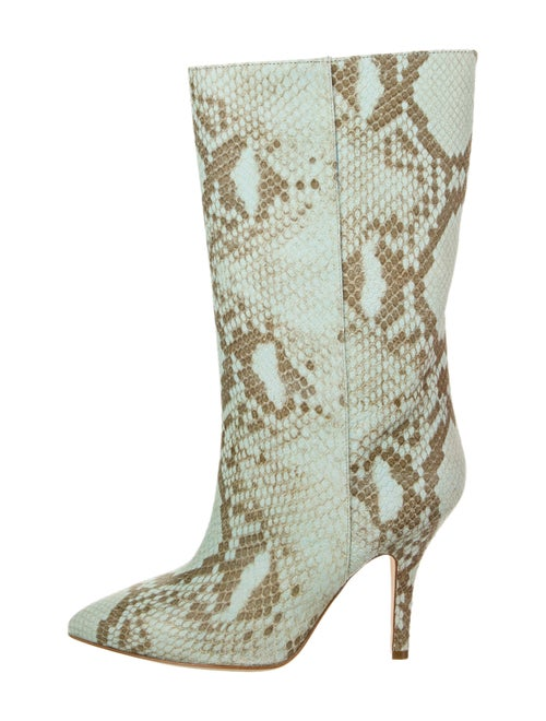 Paris Texas Embossed Python Boots Blue