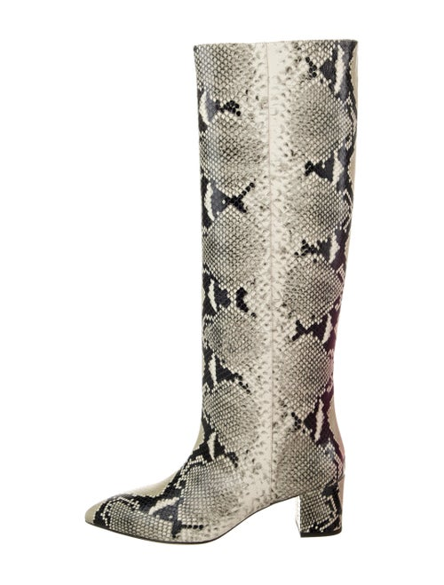 Paris Texas Embossed Python Boots Black