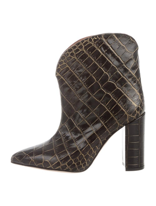 Paris Texas Embossed Leather Boots Black