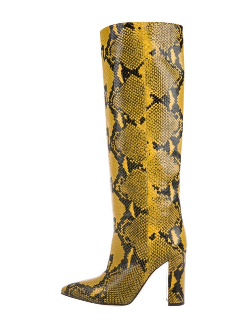 Paris Texas Embossed Leather Boots Yellow