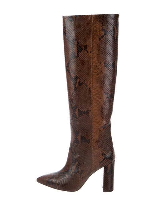 Paris Texas Embossed Pitone Leather Boots Brown