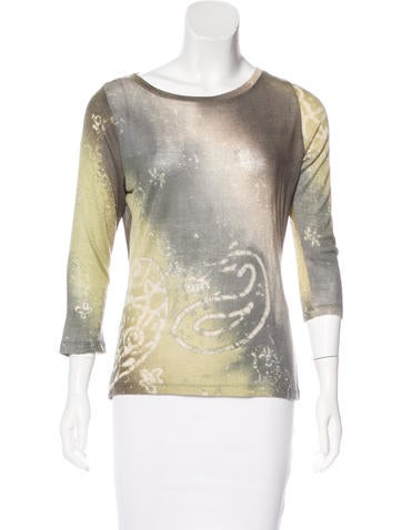 Pashma Silk & Cashmere-Blend Top None