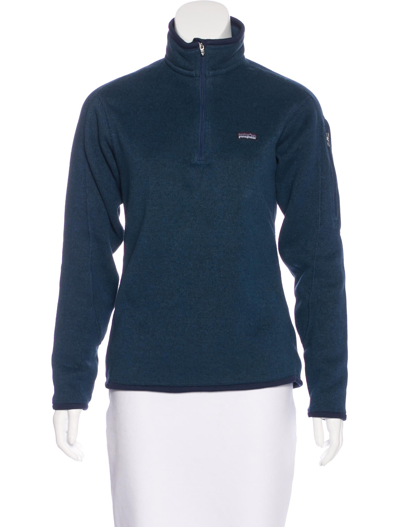 Patagonia stand collar zip up sweatshirt clothing for Stand collar shirt womens