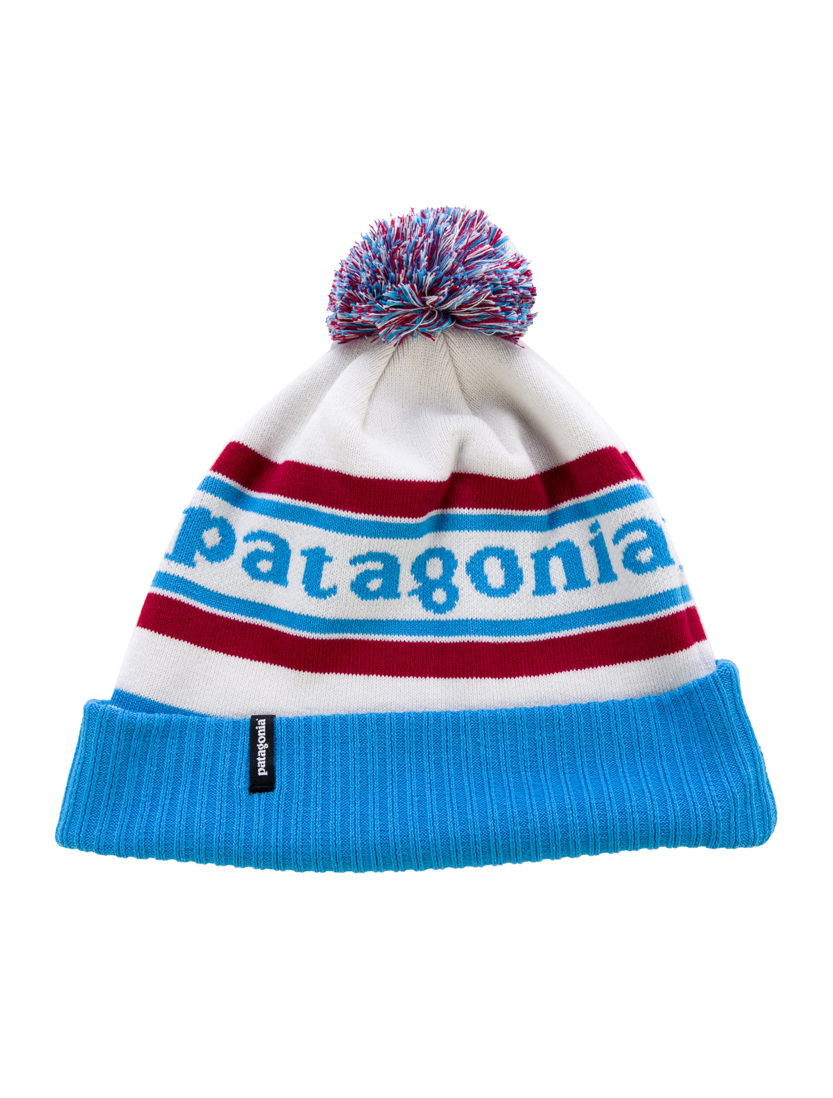 2048ded94 Patagonia Logo Pom Beanie - Accessories - WPATG20654 | The RealReal