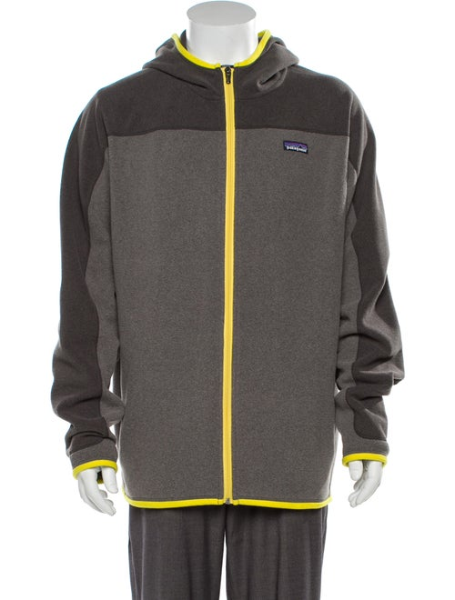 Patagonia Logo Zip-Up Fleece grey