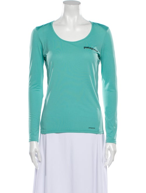 Patagonia Scoop Neck Long Sleeve T-Shirt Blue