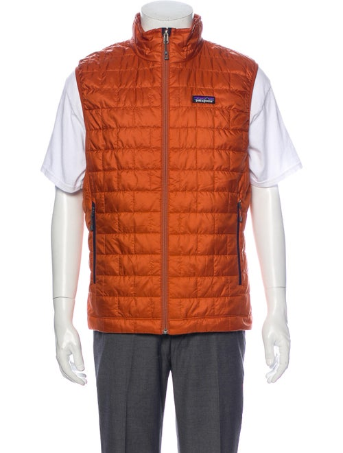 Patagonia Crew Neck Sleeveless Sweater Vest Orange