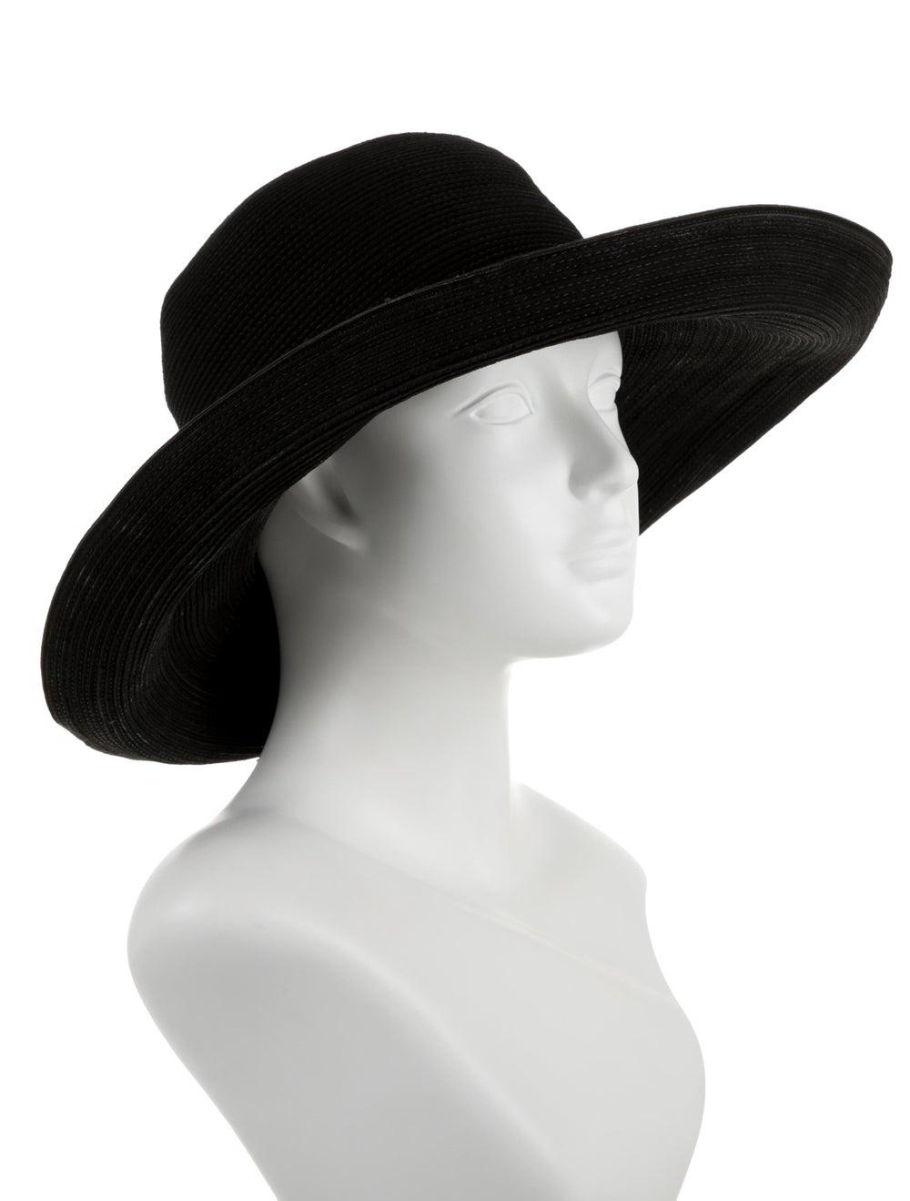 Patricia Underwood Straw Wide Brim Hat Black - image 3