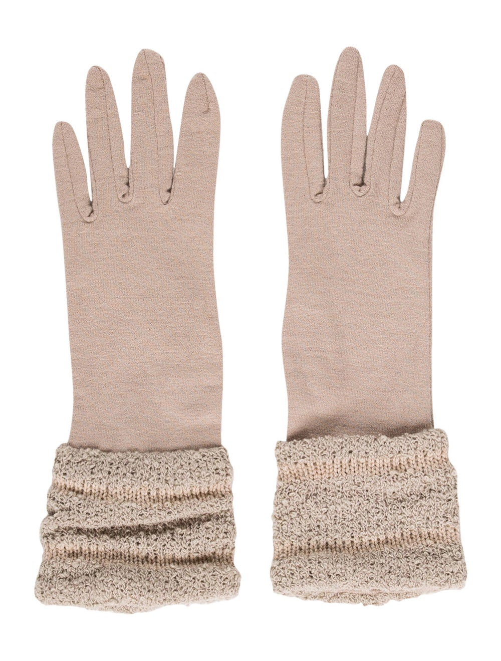 Patricia Underwood Wool Woven Gloves Tan - image 1